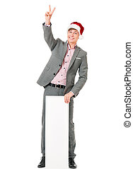 man, hatt, jultomten