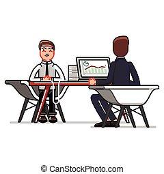Man have an a job interview