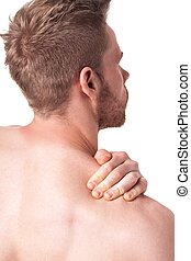 Man having a shoulder pain