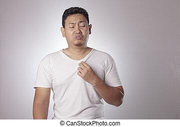 Man Having Bad Body Odor