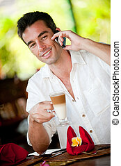 Man Having Coffee