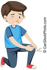 Man having joint pain illustration