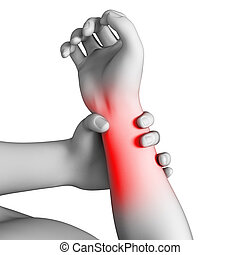 Man having pain in the arm