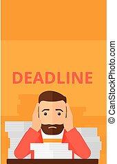 Man having problem with deadline.