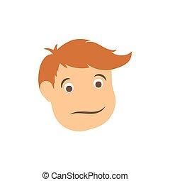 Man head cartoon