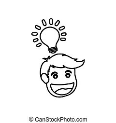 Man head cartoon