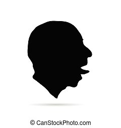 man head silhouette illustration