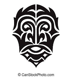 man head tribal vector