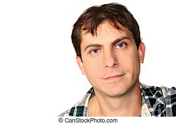 Man Headshot - Headshot of casual man; mid-thirties
