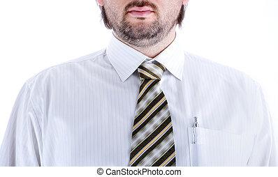 man, hemd stropdas