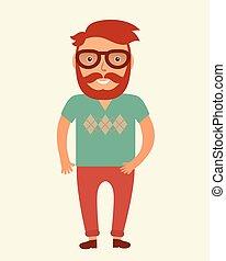 man., hipster