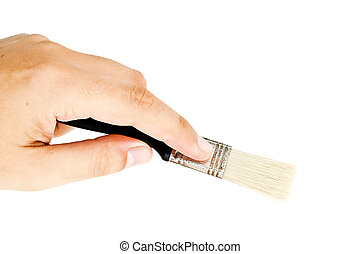man holding a brush