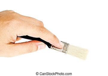 man holding a brush