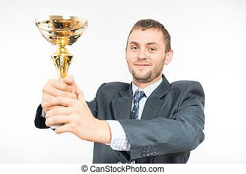 Man holding a goblet