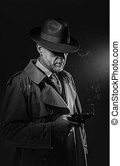 Man holding a gun