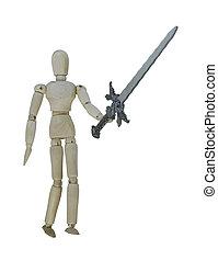 Man holding a heavy Sword
