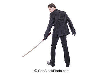 Man holding katana
