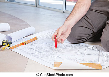 Man holding pencil