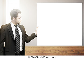 man, holdingen, tom, affisch