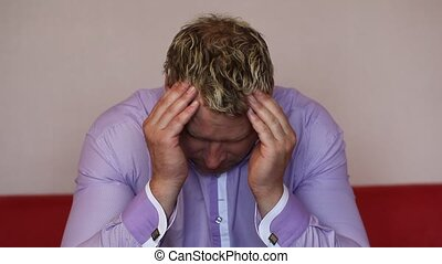 man, hoofdpijn