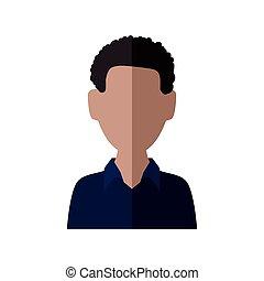 Man icon. Avatar design. Vector graphic