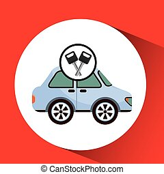 man icon car design
