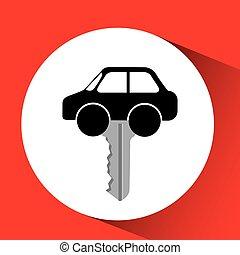 man icon car sedan design