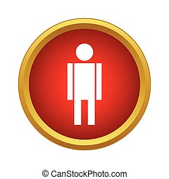 Man icon in simple style