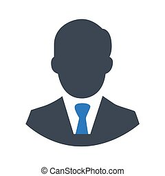 Man icon on a white background. Vector illustration