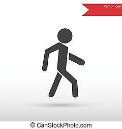 Man icon . Pedestrian symbol.