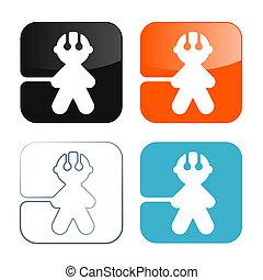 Man Icons - Vector Symbols Set