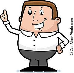 Man Idea - A happy cartoon man with an idea.