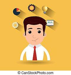 man idea gear symbol