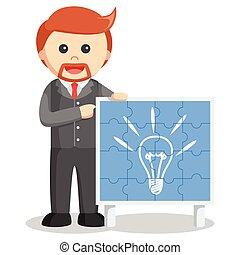 Man idea puzzle