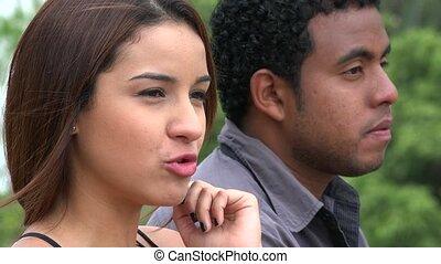 Man Ignoring Angry Woman