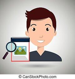man images album search vector illustration esp 10