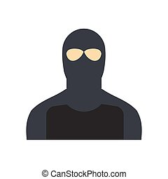 Man in a mask flat