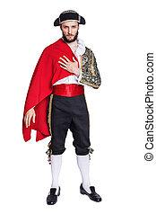 Man in a matador costume