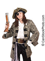 man in a pirate costume