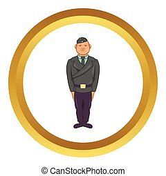 Man in a police uniform vector icon