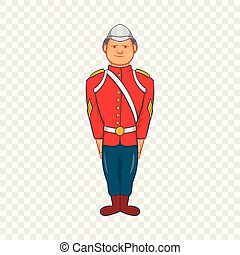 Man in a red jacket and metal helmet century icon