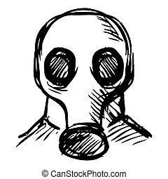 Man in a respirator