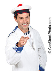 Man in a sailor costume