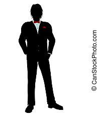 Man in a Tuxedo Silhouette - Man dressed in a tuxedo...