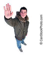 man in a winter coat