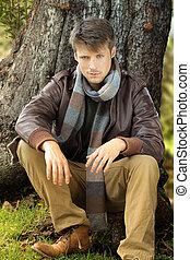 Man in autumn