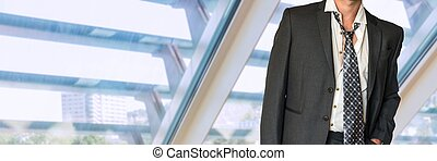 Man in black business suit