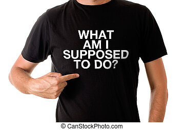 Man in black t-shirt - Slim tall man posing in black t-shirt...
