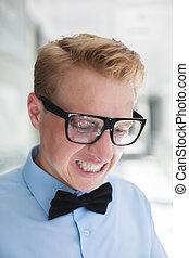 man, in, bril