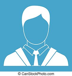 Man in business suit icon white